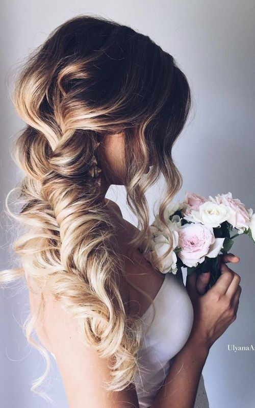 Loose Braided Hairstyles for Wedding