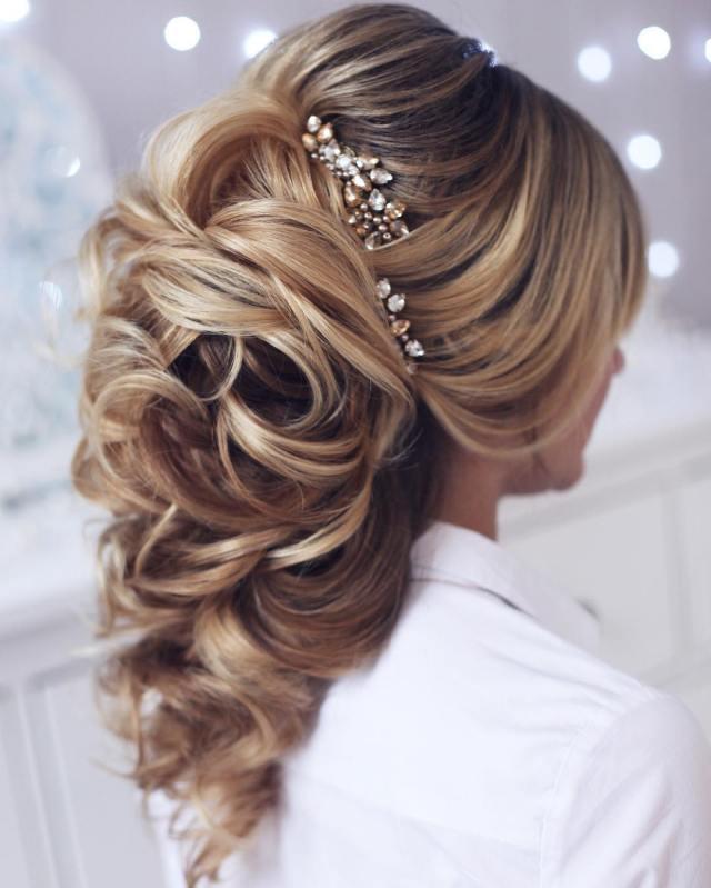 10 lavish wedding hairstyles for long hair - wedding