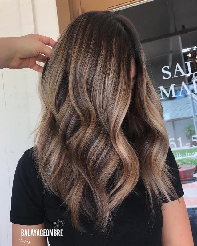10 best medium layered hairstyles 2019 - brown & ash-blonde