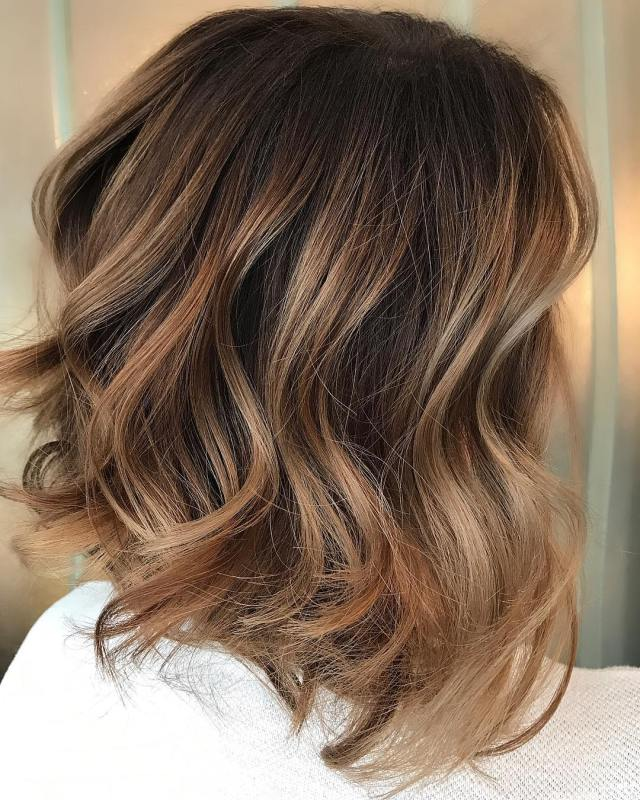 10 trendy brown balayage hairstyles for medium-length hair 2019
