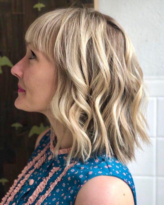 10 trendy choppy lob haircuts for women, best medium hair