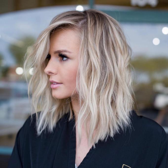 10 simple lob hair styles for women - medium haircut with