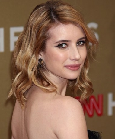 Emma Roberts Medium Wavy Hairstyles 2012