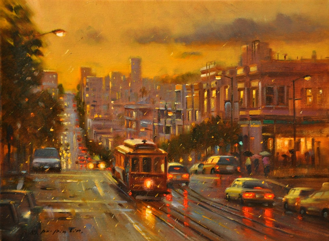Evening Reflections (SF), 12x16