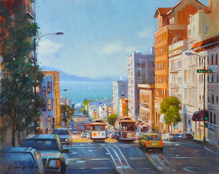 Looking out the Bay (SF), 16x20