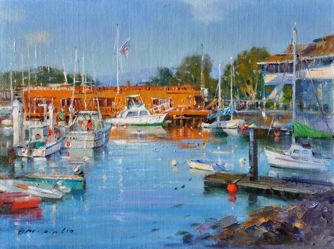 Monterey Harbor, 12x16 (SOLD)
