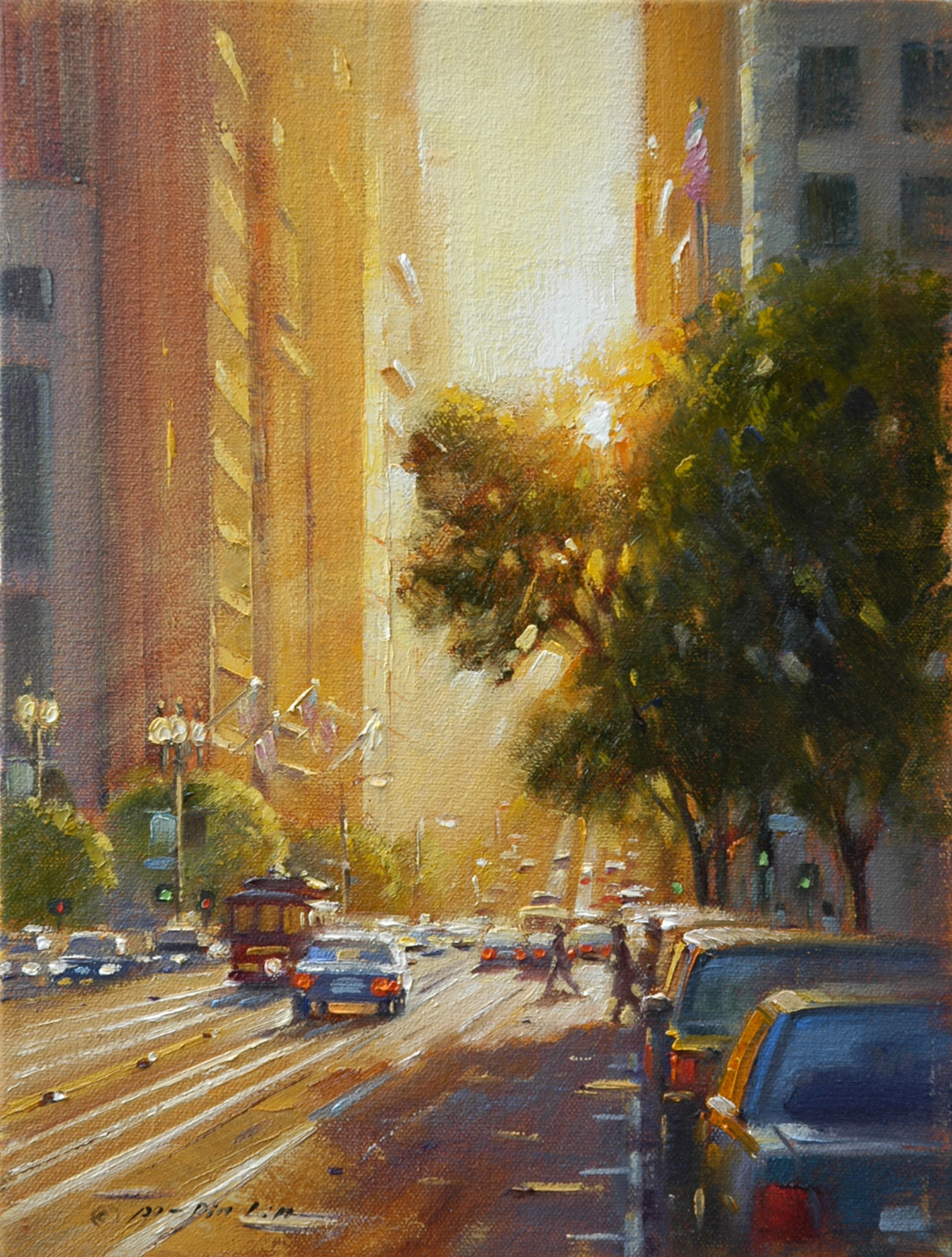 City Twilight SF, 12x9 (SOLD)