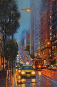 "SF City Lights, 36""x24"""