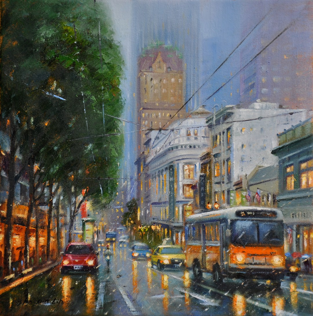 The Colors of the City, 12x12 (SOLD)