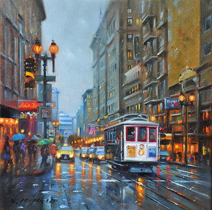 Walking the Streets of San Francisco, 12x12 (SOLD)