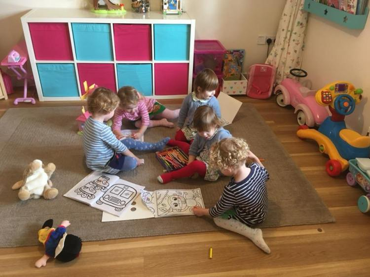 twins and triplets, children playing together