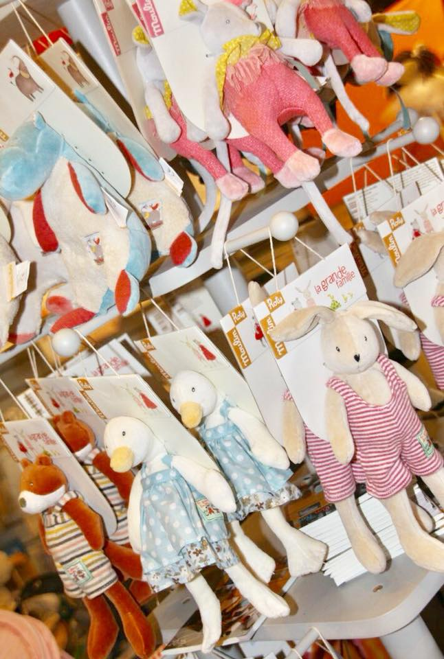 moulin roty baby toys on display at whites farm baby barn