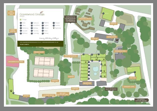 Map of Greenwood Grange