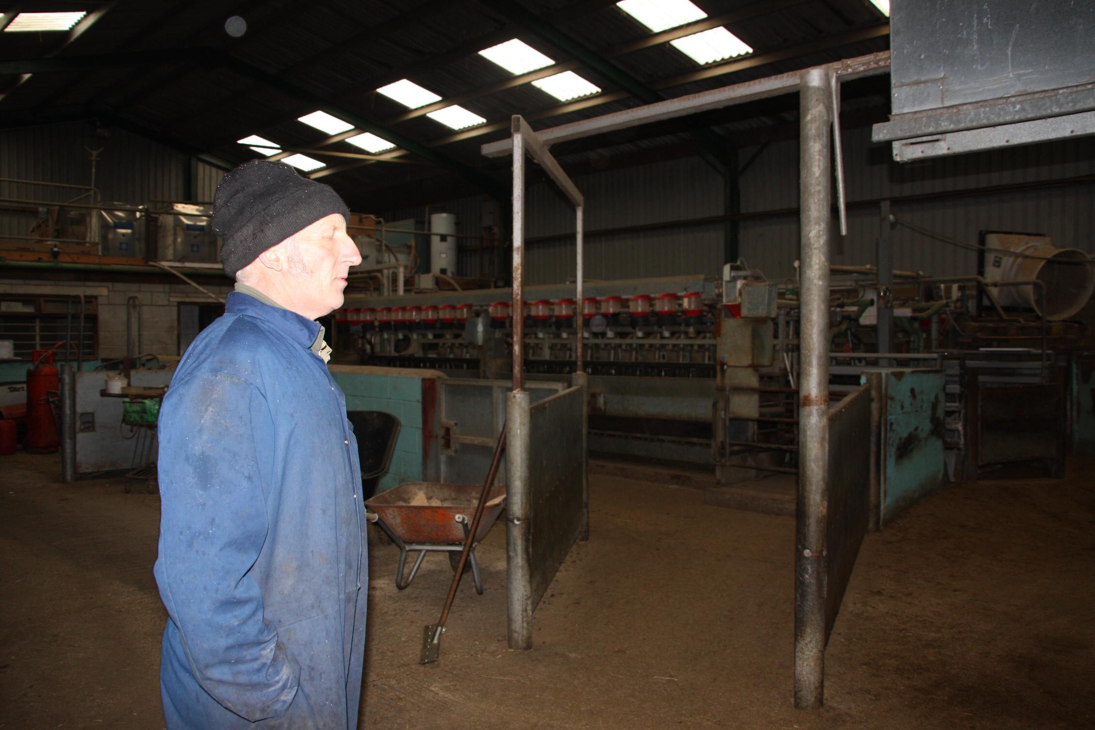Farmer John on his farm tour at the Dandelion Hideaway