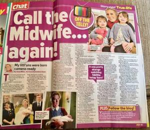 article in Chat magazine about the Popitha Twins