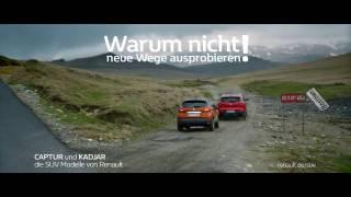 Screenshot aus Renault SUV-Modelle Werbung