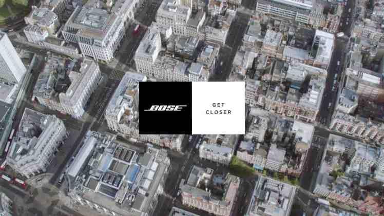 Screenshot aus Bose Werbung