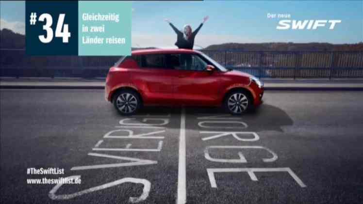 Screenshot aus Suzuki Swift Werbung