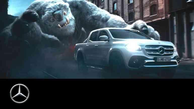 Screenshot aus Mercedes-Benz X-Klasse Werbung