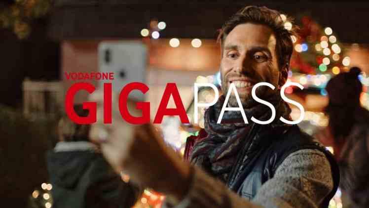 Screenshot aus Vodafone GIGAPASS Werbung