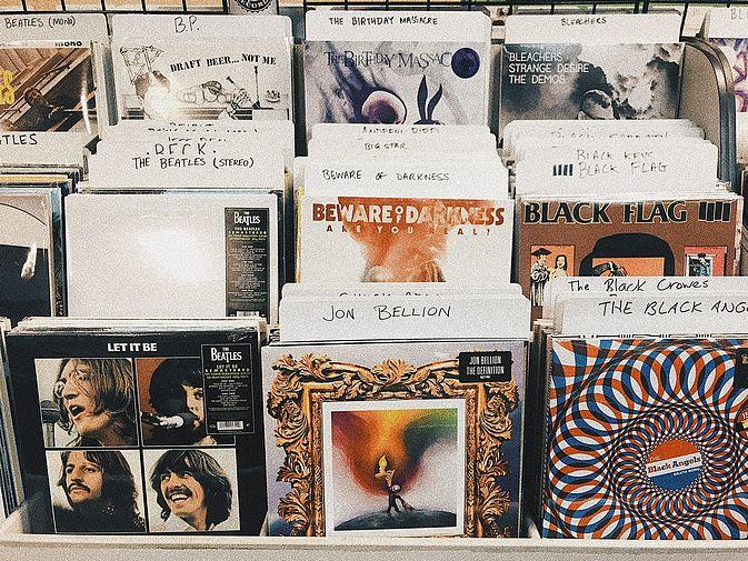 Verschiedene Alben aus den 70er Jahren