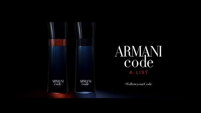 Screenshot aus Armani Code Werbung