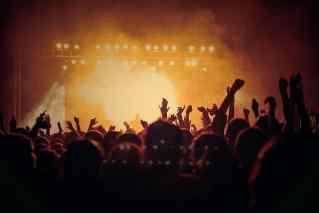 Personen auf einem Konzert
