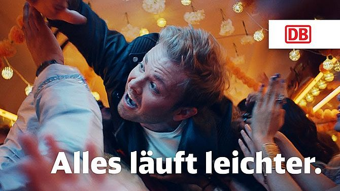 Screenshot aus Deutsche Bahn Werbung