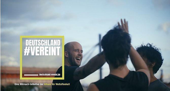 Screenshot aus Deutschland Vereint Werbung