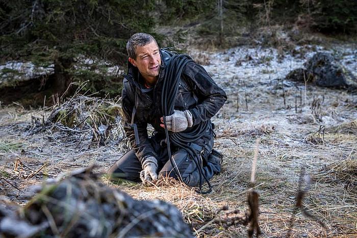 Du gegen die Wildnis: Abgestürzt Bear sitzt am Boden