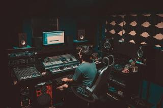 Filmkomponisten im Studio