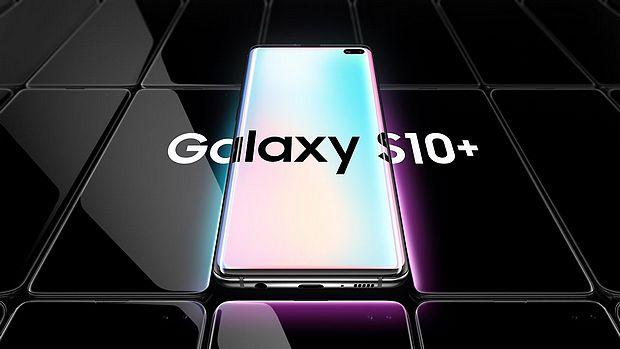 Screenshot aus Galaxy S10+ Werbung