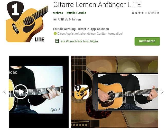 Gitarre Lernen Anfänger LITE