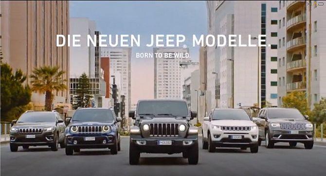 Screenshot aus Jeep Werbung