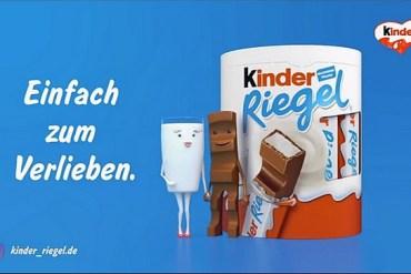 Screenshot aus der Kinder Riegel Werbung 2021