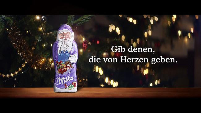 Screenshot aus Milka Werbung