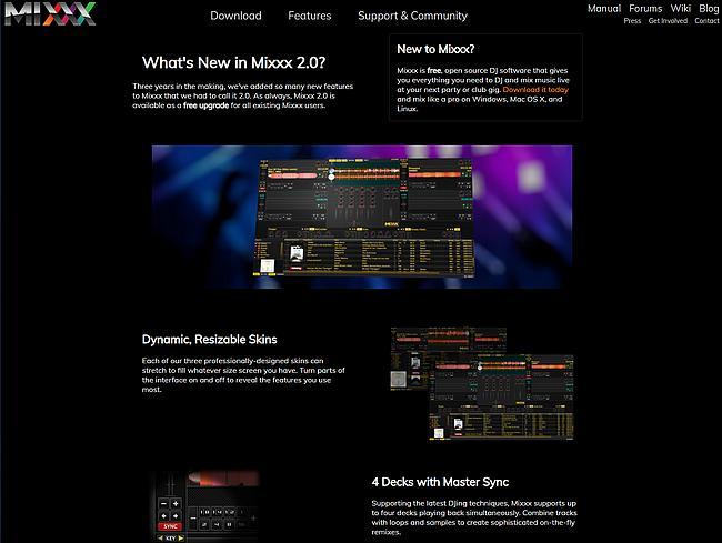 Mixxx 2 Webseite