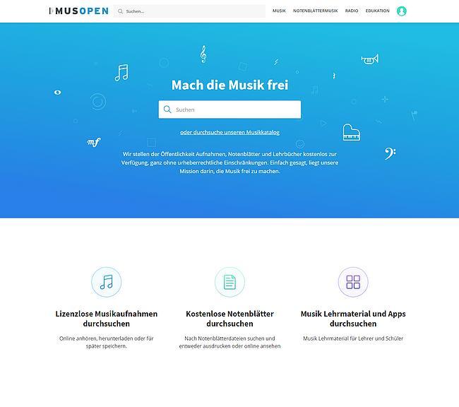Musopen Webseite