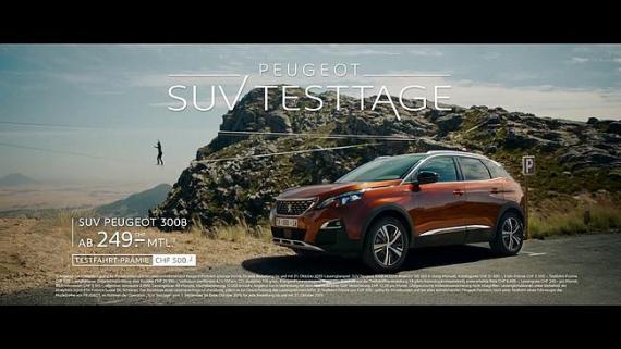 Screenshot aus dem Peugeot SUV Testtage TV-Spot