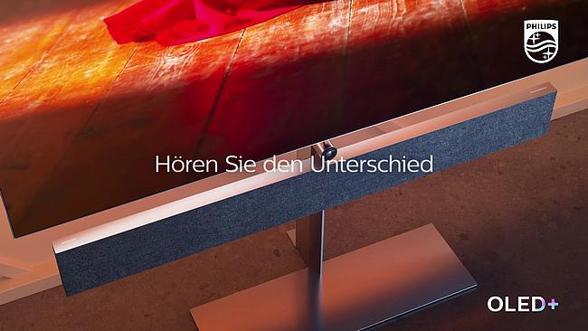 Screenshot aus Philips OLED+ Werbung