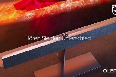 Screenshot aus Philips OLED+ Werbung