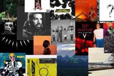 Verschiedene Rap-Alben aus dem Jahr 2018