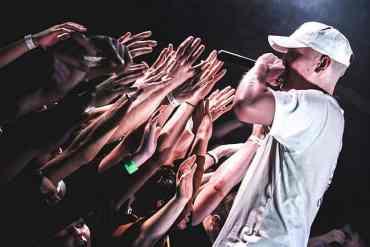 Rapper vor Publikum