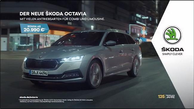 Screenshot aus der Skoda Octavia Werbung