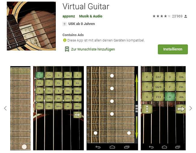 Play Virtual Guitar