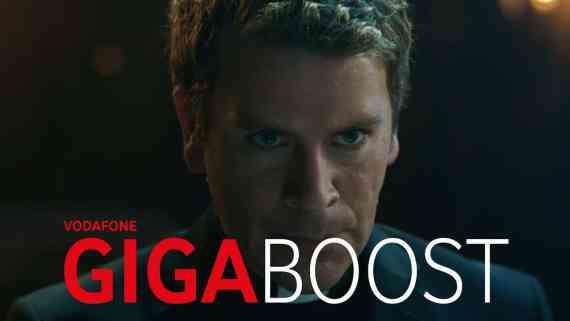 Screenshot aus Vodafone GigaBoost Werbung