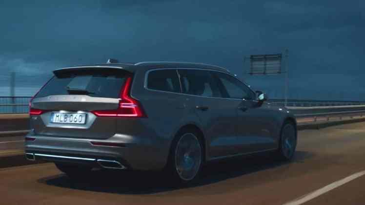 Screenshot aus Volvo V60 Werbung