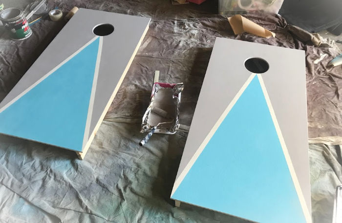 Painting Cornhole Boards