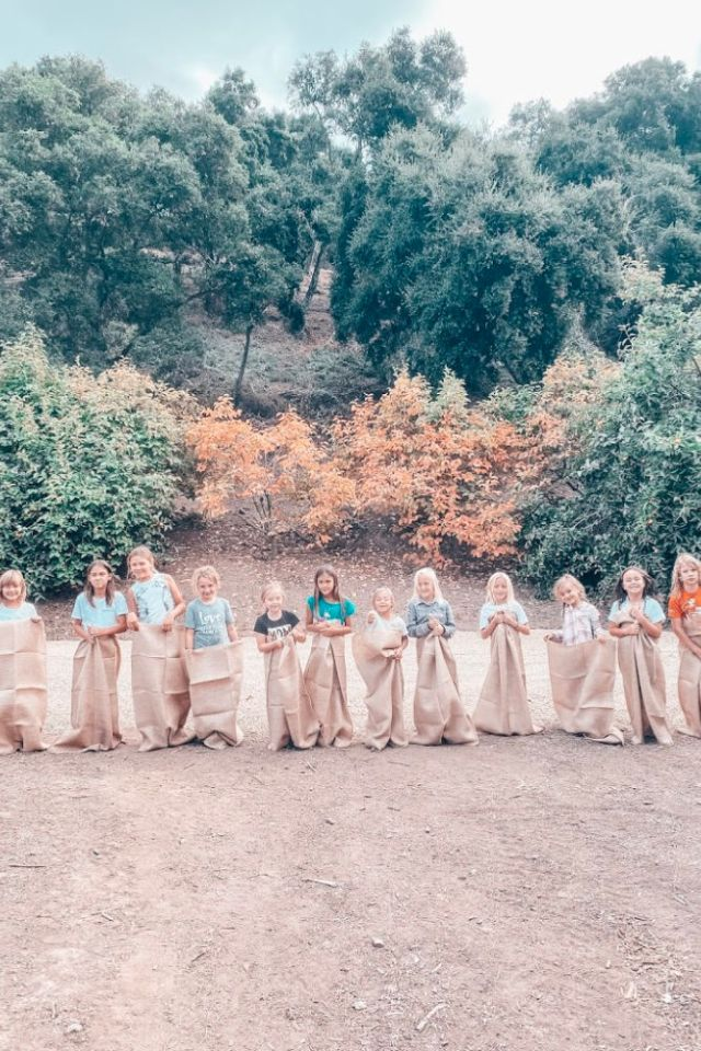 Fall Harvest Party Ideas sack races | Poplolly co