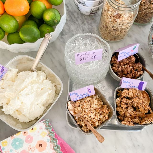 host a beautiful brunch with a parfait station | Poplolly co